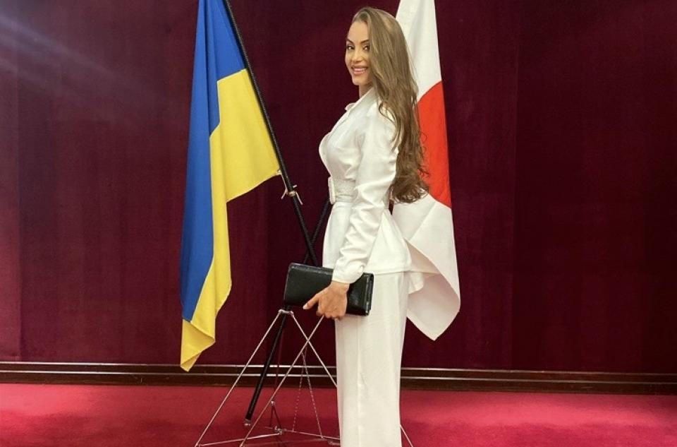 Miss Ukraine 2019 was a guest at the Japanese Embassy event