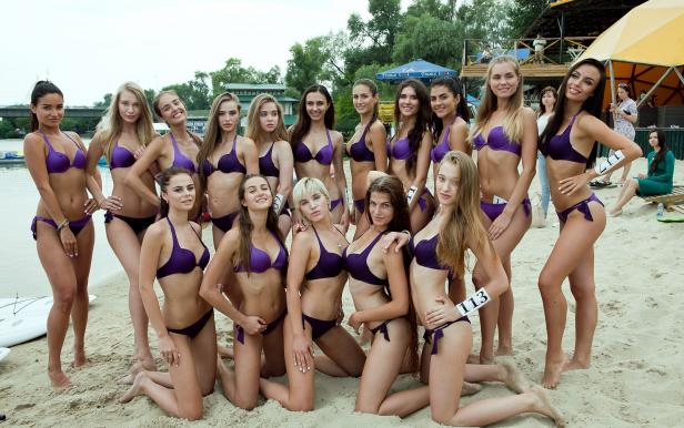 Miss Xtreme games with contenders Miss Ukraine 2017