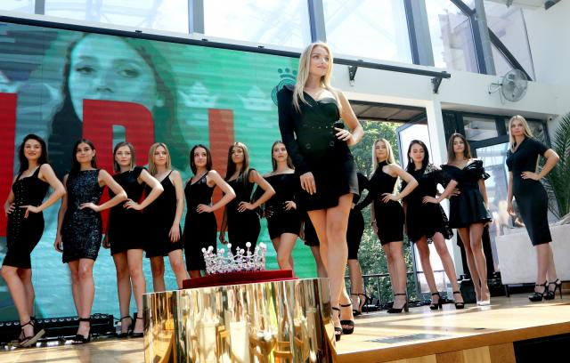 Presentation of the candidates of Miss Ukraine 2019 contest.