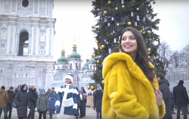 New Year's greetings MISS UKRAINE 2017 Polina Tkach