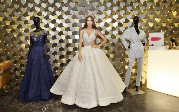Press cocktail Miss Ukraine 2018. Presentation of stage costumes and main dress for final show Miss World 2018